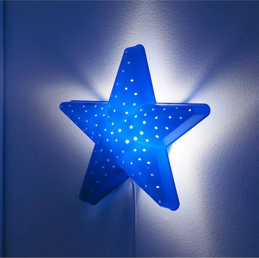 Ikea blue star night light kids wall lamp smila stjarna vgc