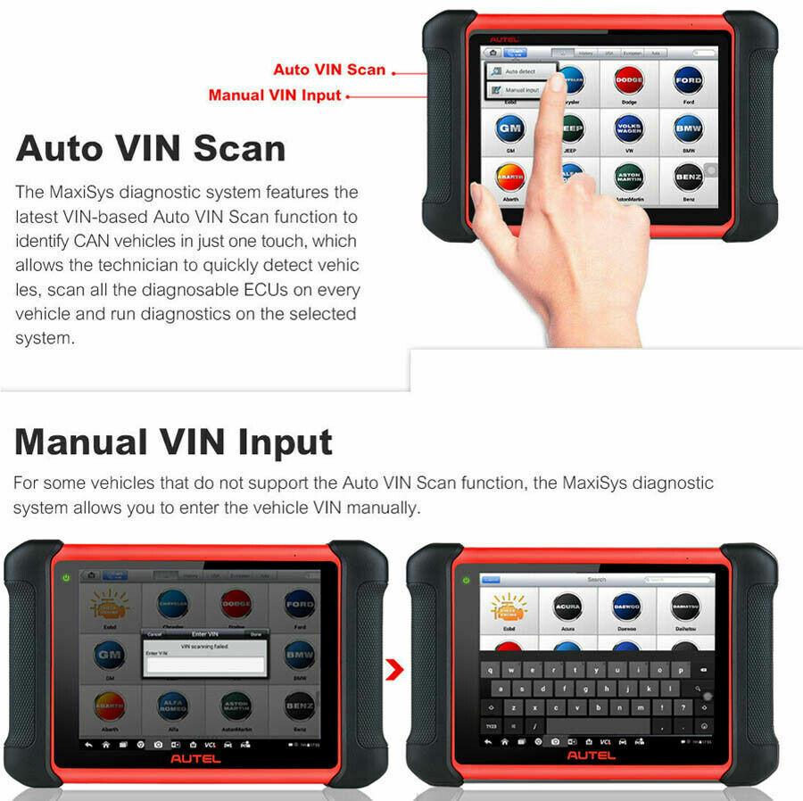 Autel MaxiCOM MK906BT OBD2 Diagnostic Scanner ECU Coding Bidirectional Wifi  BT | eBay