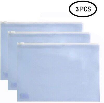 3pcs A5 Document Zipper Bag File Pocket Folder Envelope Paper Organizer Pouch