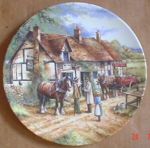 Royal Doulton Limited Edition Collectors Plate THE JOLLY FARMER Shire Horse