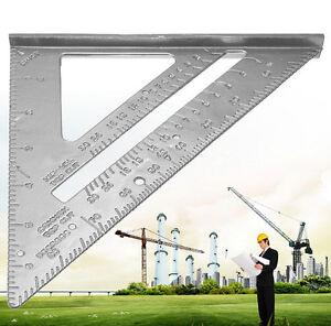 Aluminum Alloy Speed Square Protractor Miter Framing Measurement Carpenter