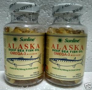 Sunline alaska deep sea fish oil omega 3 1000mg dietary for Alaska deep sea fish oil