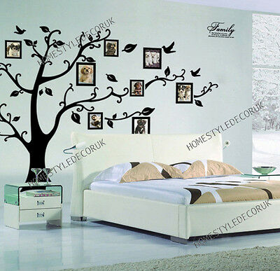 Home Decoration - X Large Family Tree Birds Photo Frame Quotes Wall Stickers Home Art Decals Decor