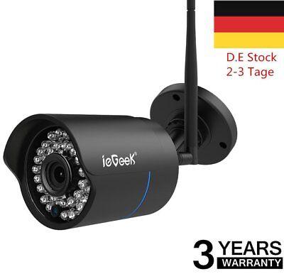 Außen 720P IP Netzwerk Wlan Kamera Überwachungskamera SET Funk IR Outdoor FT DE