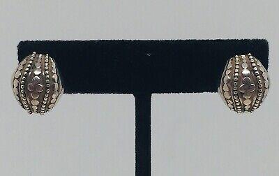 John Hardy Sterling Silver Dot Pattern Design Earrings