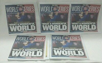 5 Chicago Sun Times Newspaper  Chicago Cubs World Series Champions 11 03 2016