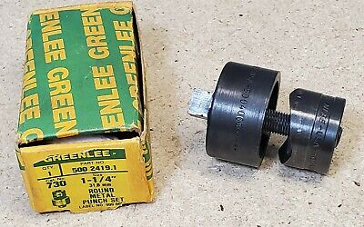 Greenlee No. 730 - 1 14 Diameter Punch And Die Set - Radio Chassis Punch