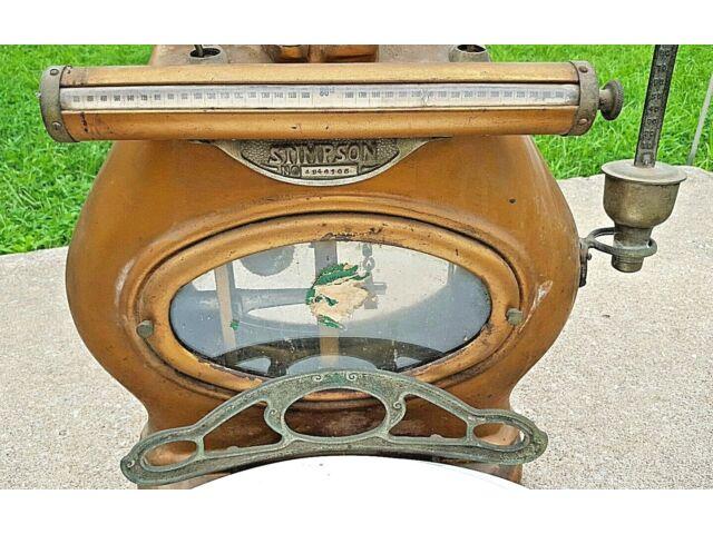 Antique Stimpson Computing Mercantile Store Scale No. 4946105 Art Deco Brass