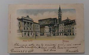 TRIESTE-PIRANO-PIAZZA-TARTINI-VIAGGIATA-26-AGOSTO-1900