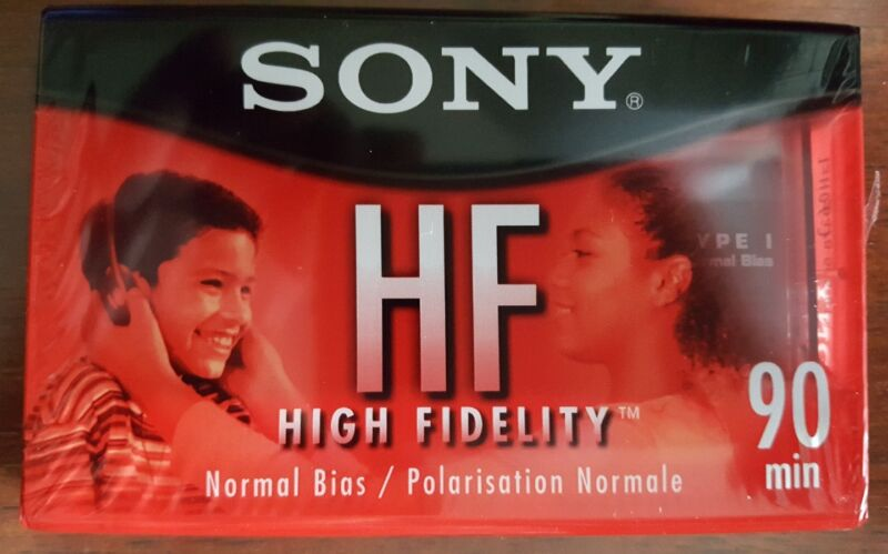 Seven (7) Brand New Sealed Sony HF High Fidelity 90 Minute Cassette Tapes Normal