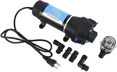 Ac 110v 4.5gpm Self Priming Water Pressure Diaphragm Pump For Boatcampervans