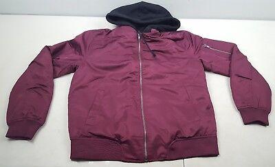 new no tags rare jnco jeans burgundy black frankenstein jacket hoodie - Frankenstein Jacket