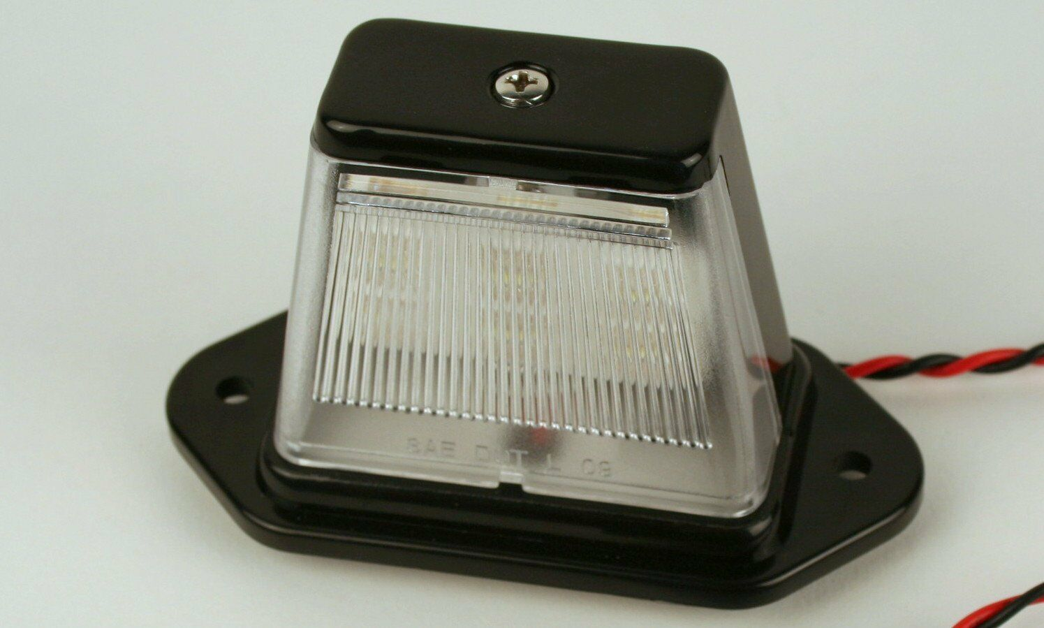 Truck RV ATV Snowmobile Trailer LED License Plate Light - Black Finish