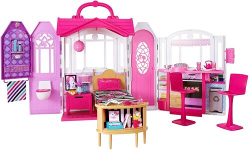 Barbie House 2 Story Dream Furniture Accessories Gate Dollhouse Girls Fun Play