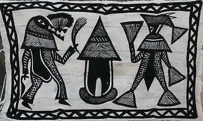 Crafts African Canvas Korhogo Middle
