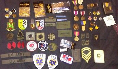 Military patches and various Medals