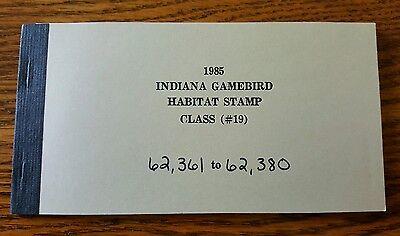 Vintage Indiana Duck Stamps Indiana Game bird Habitat Stamp (Class #19) 1985
