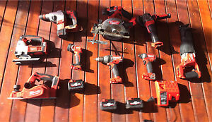Milwaukee cordless tools 9 pieces good condition Cartwright Liverpool Area Preview