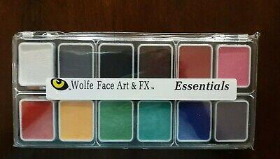 WOLFE FX 12 Color Essential Face Paint Palette, 1 Brush](Wolf Face Paint)