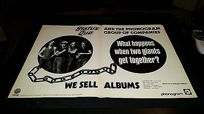 Status Quo Phonogram Records Rare Original Promo Poster Ad Framed! #2
