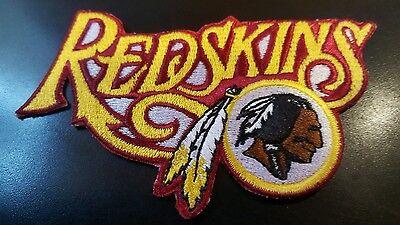 "Washington Redskins vintage embroidered iron on patch 4""x 2"""