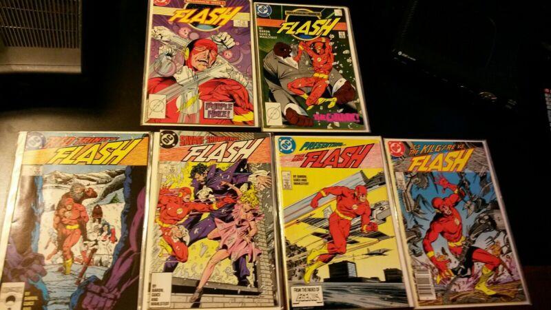 THE NEW FLASH #1,#2,#3 & #7,#8,#9,KEY 6 DC COMIC BOOK LOT AVERAGE VF GRADE