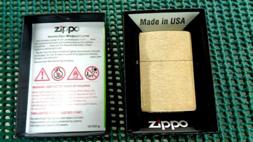 Zippo Classic High Polish Brass 204B Windproof Pocket Lighter New Sealed in Box