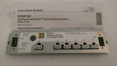 Square D Rcbif100 Intelligent Load Center Circuit Breaker Interface New