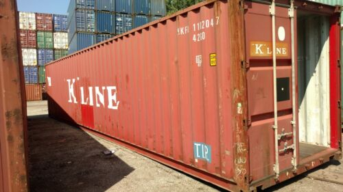 40ft Standard SHIPPING CONTAINER CONEX BOX STORAGE CHICAGO WIND WEATHER TIGHT