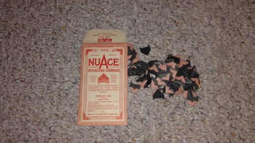 vintage mounting corners NUAGE light red open package