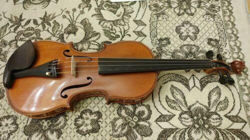 Old German violin 4/4 size, nice sound LISTEN