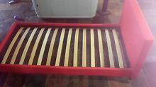 Single red bed frame. Like new condition Riverstone Blacktown Area Preview