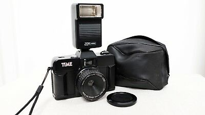 Vintage TIME 35mm film point and shoot camera with flash lomo retro