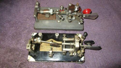 (2) Early Vibroplex Bug Telegraph Keys Broadway NY #