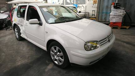 1998 - 2004 VW GOLF 4 WHITE 5DR HATCH WRECKING PARTS – VW22142 Villawood Bankstown Area Preview