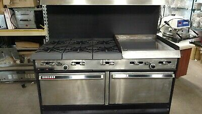 Garland 60 Inch Range With 6 Burners And 24 Inch Manual Grill