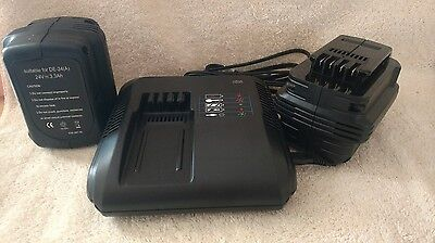 24v Battery Charger And 2 Batteries For Stryker Power Cot