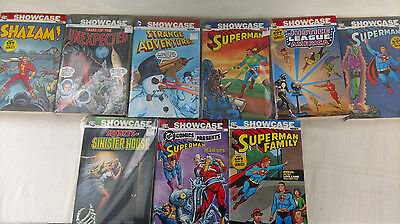 Lot of 9 DC Showcase books - Superman, Justice League & More! - Used