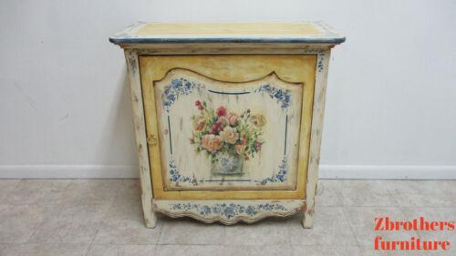 Vintage Habersham Paint Decortated Console Server Bar Liqour Cabinet
