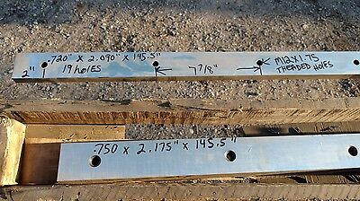 Set Of Wysong 12 Shear Blade Knife 34 X 2 X 145.6 Pair Of Sharpened Knives.