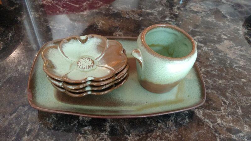 Frankoma Pottery Prairie Green Set