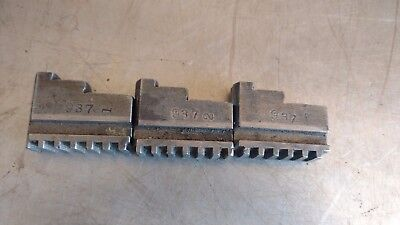 Vintage Lathe Chuck Replacement Jaws Set Of 3 Model No. 937