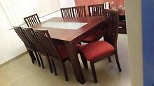 Timber Dining Table & 8 Chairs Mount Lewis Bankstown Area Preview
