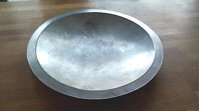 Taufschale Messing feuerverzinnt 480 mm Durchmesser