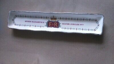 Queen Elizabeth II Silver Jubilee 1977 Rectangle Pin Dish