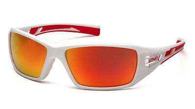 Pyramex Velar Whitered Sky Red Mirror Lens Safety Glasses Sunglasses Z87.1