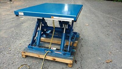 Electric Hydraulic Scissor Lift Table3500 Lb Capacity60 X 48 Table