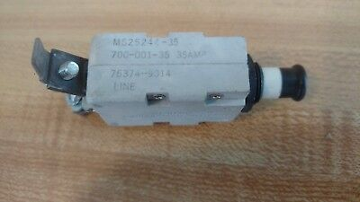 Mechanical  Ms25244-35  35 Amp Aircraft Circuit Breaker  Used