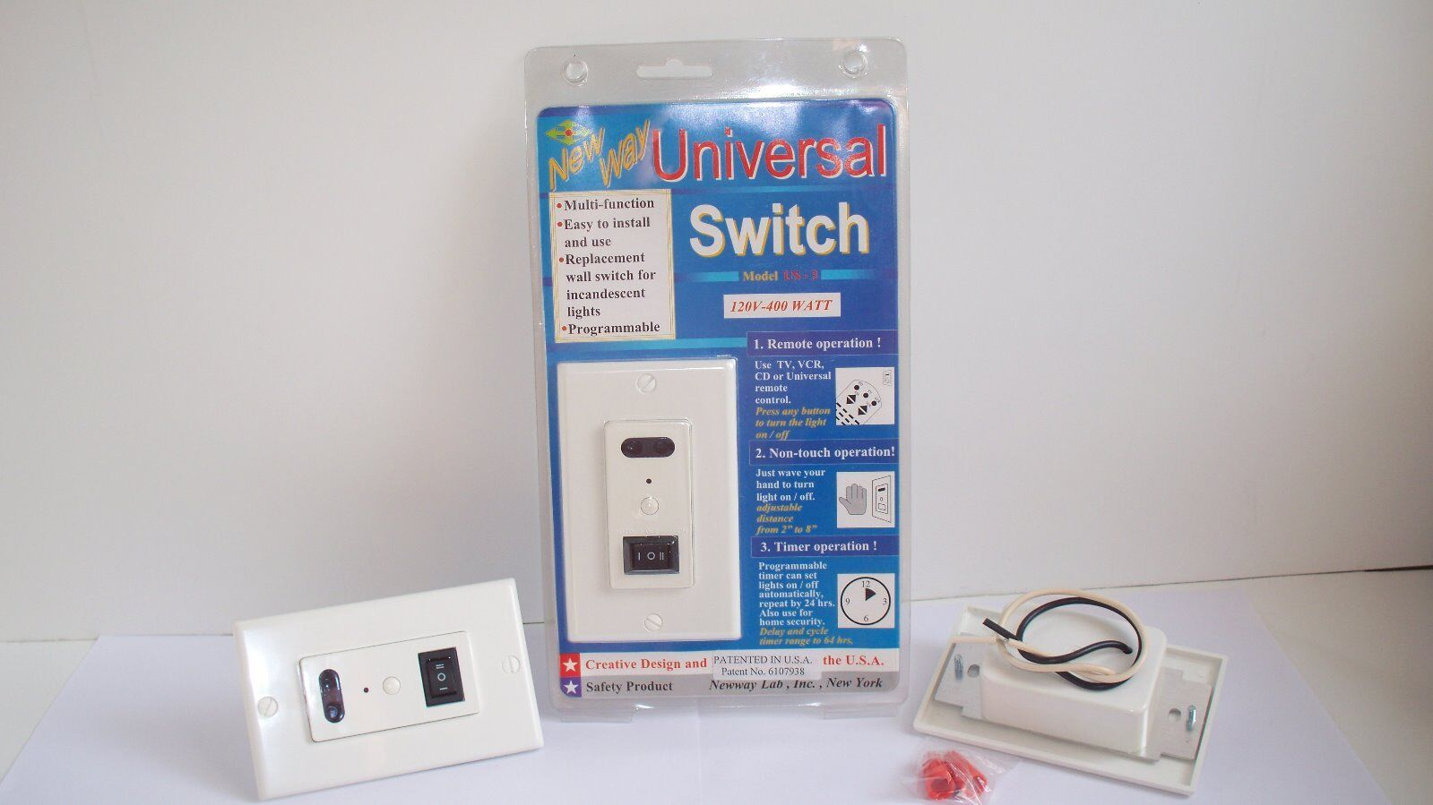 3 Way Wireless Light Wall Switch Remote Control Touchless Timer 1 Of 8