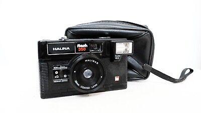 Vintage HALINA Flash 350 35mm film point and shoot camera with case lomo retro